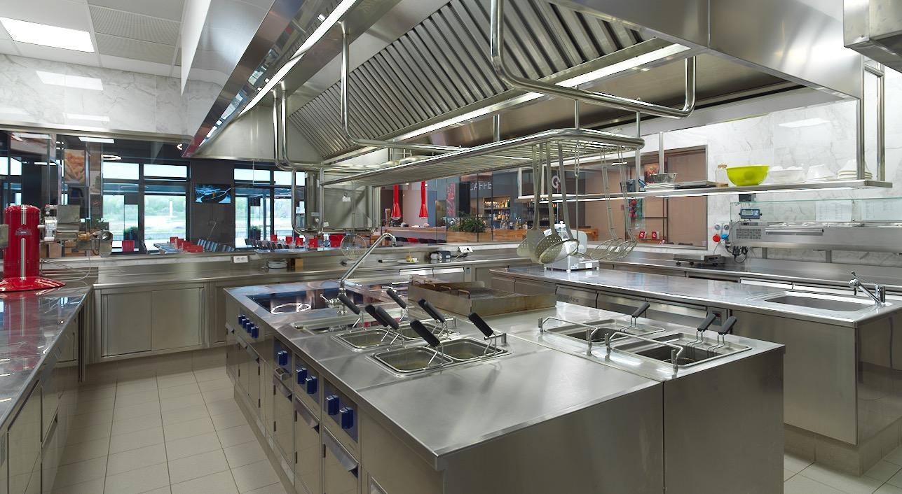Il laboratorio e la cucina